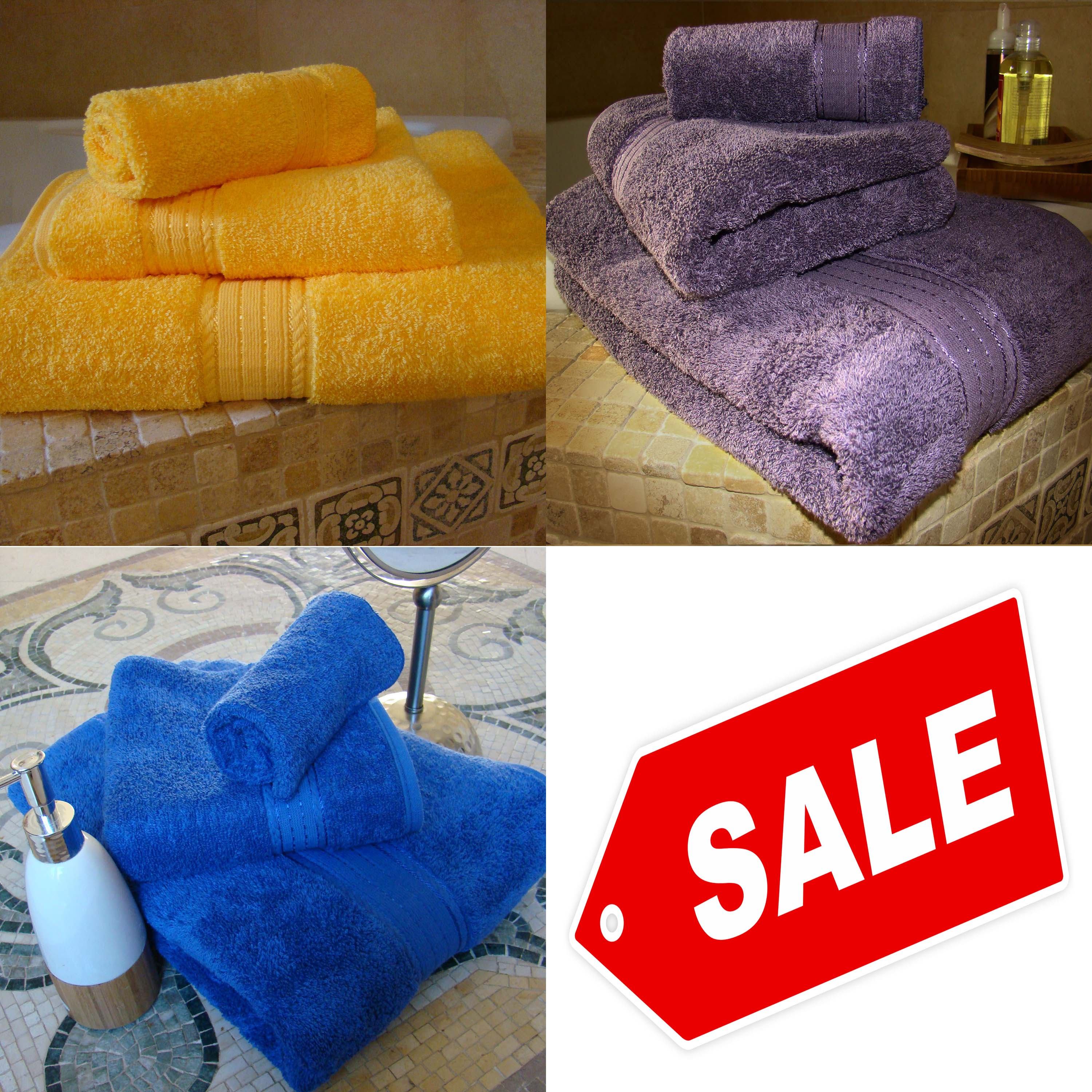 SPECIAL SALE ! Crown Jewel Luxurious Bath Set. 3 Colors available.