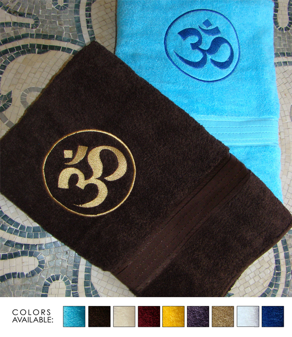 EMBROIDERED 30x54 Luxurious Bath Towels By Crown Jewel , 18 Lbs Per Dz, 100% Giza Egyptian Cotton. North America Made.