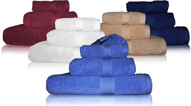 Oval Office Collection bath towel set. 72 pcs per box. Zero twist 100 % cotton. Luxurious towel. Available only in White. Available in Half a case.