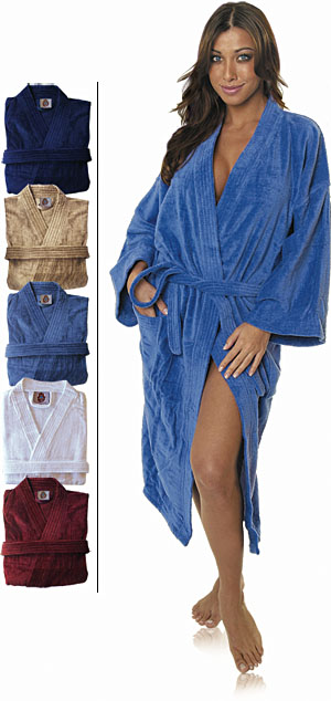 EMBROIDERED Cotton Love Bath Robe
