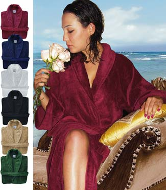 Luxurious Bath Robes Shawl Royal Comfort  ON SALE !