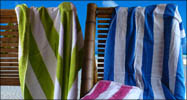 30x62 Terry Velour Cabana Stripe beach towels, 11 lbs per doz.
