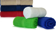 32x64 Terry Cotton beach towels (assorted colors). 15.0 Lbs/ Dz, 100 % Ring Spun cotton. 24 pcs per case.