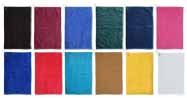 16x25 Open Golf Towels (assorted colors) with Grommet and Hook 100% Combed Cotton, 120 pcs per case.