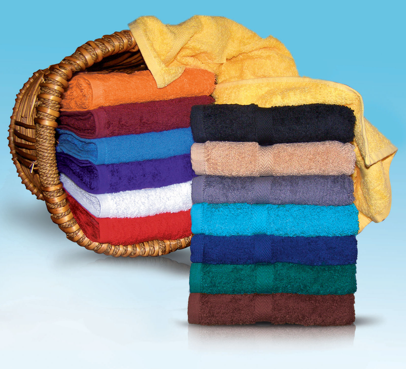 EMBROIDERED 16x30 Hand Towels by Royal Comfort. 4. Lbs per/ dz. weight.