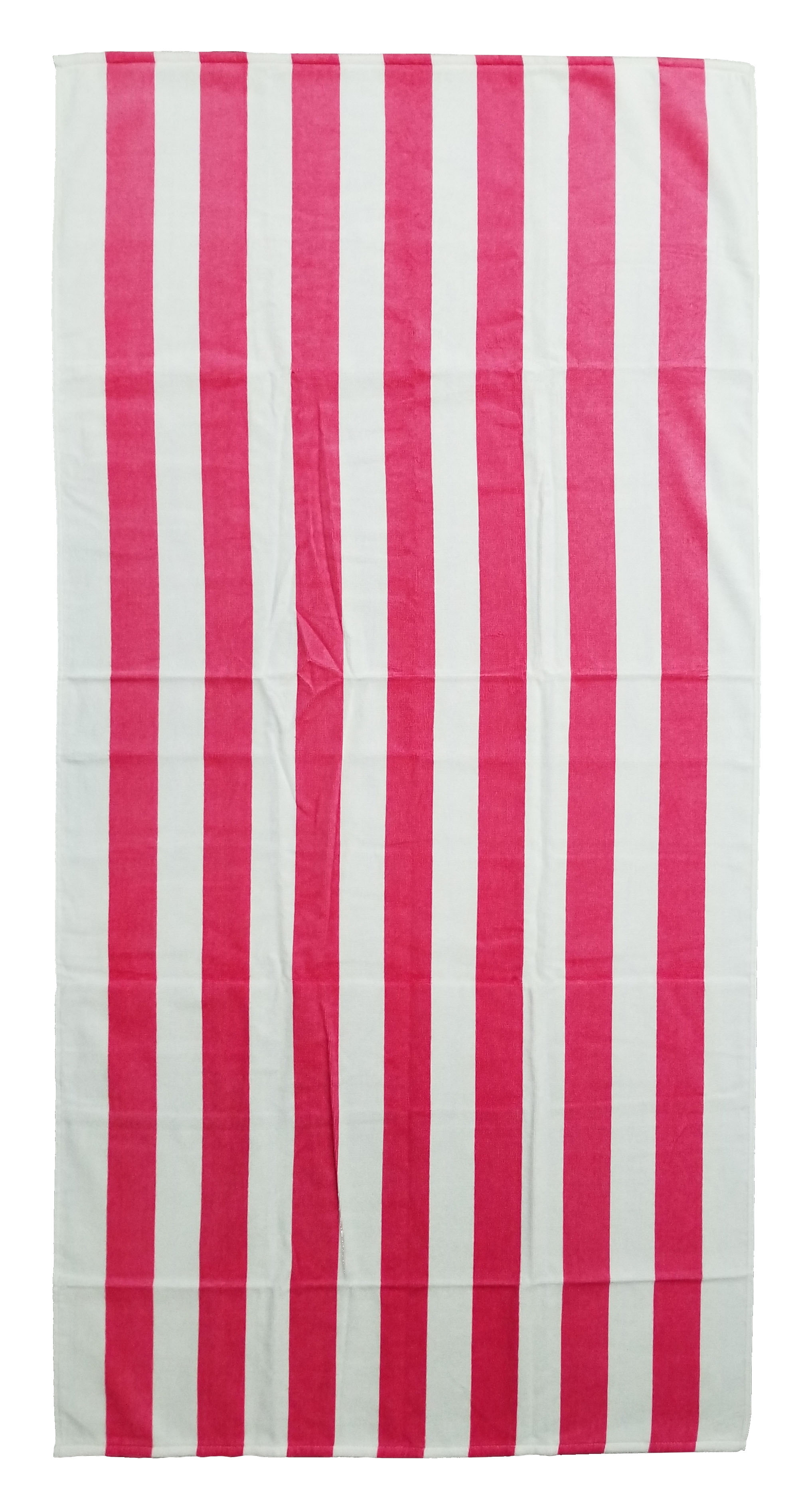EMBROIDERED 30x60 Pink Cabana Striped Beach Towel Bahia Collection by Dolhler.
