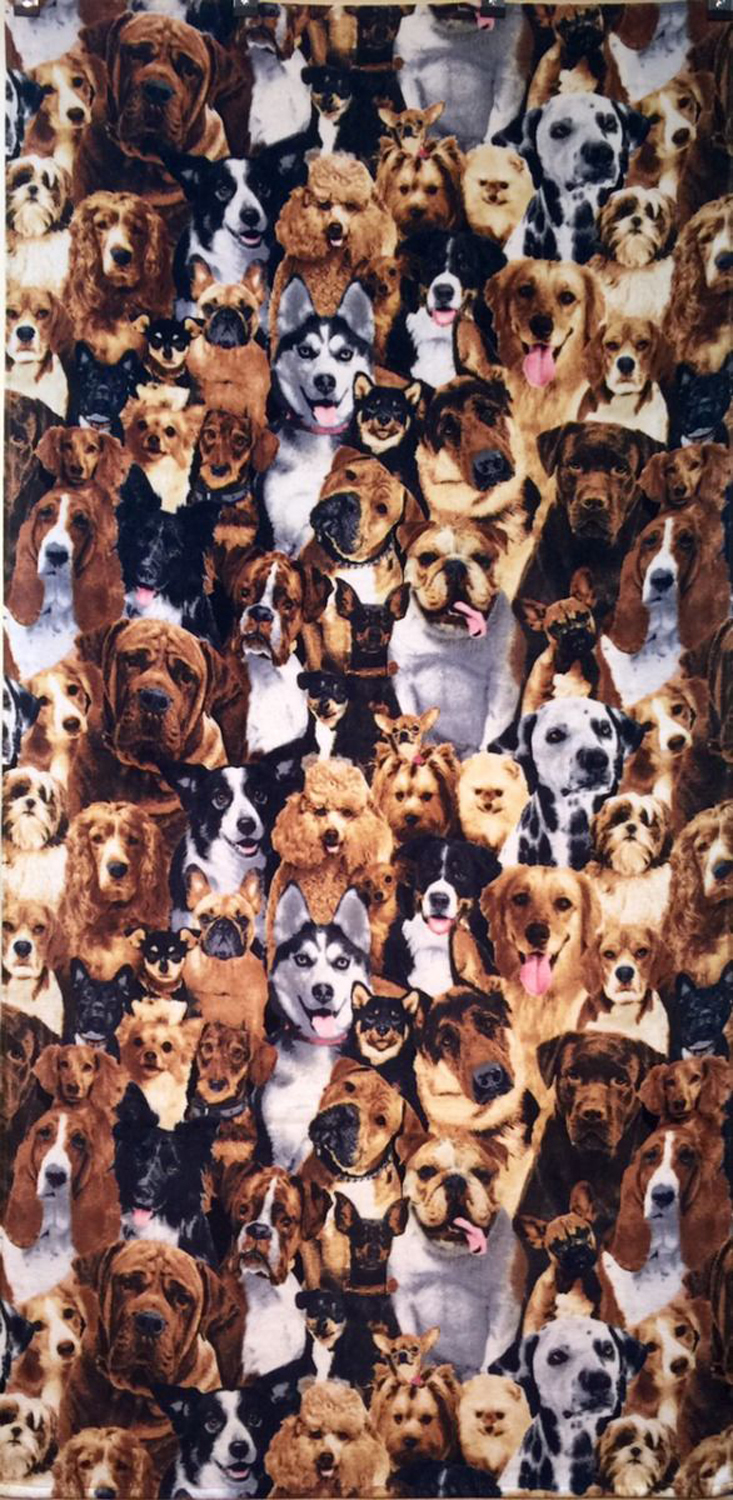 30x60 Dogs Fiber Reactive Beach Towel.