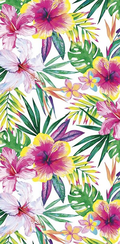 30x60 Tropical Hibiscus Fiber Reactive Beach Towel.