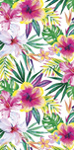 30x60 Tropical Hibiscus Fiber Reactive Beach Towel.