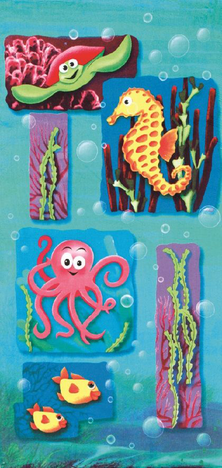 30x60 Ocean Life Bubbles Fiber Reactive Beach Towel.
