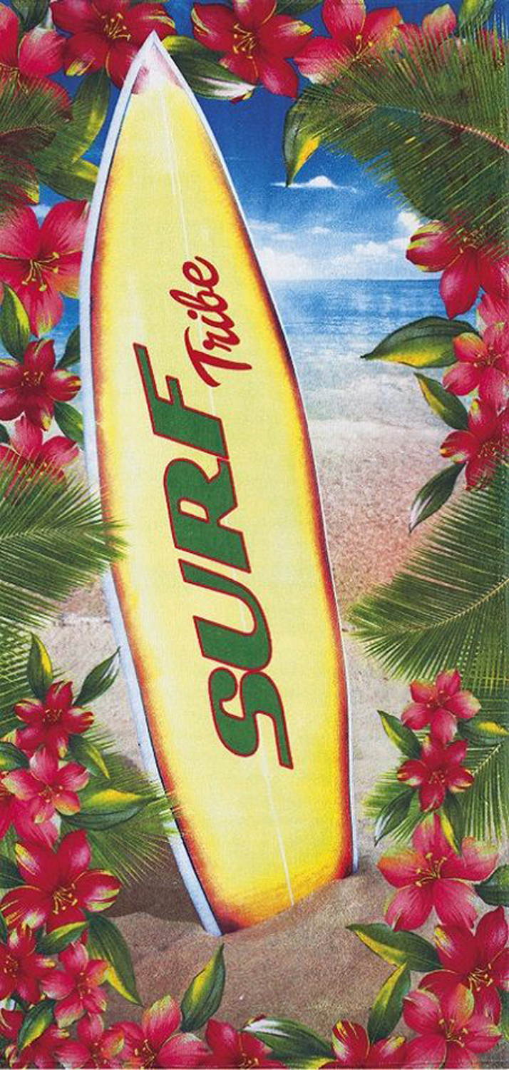 30x60 Surf Board Tribe Fiber Reactive Beach Towel.