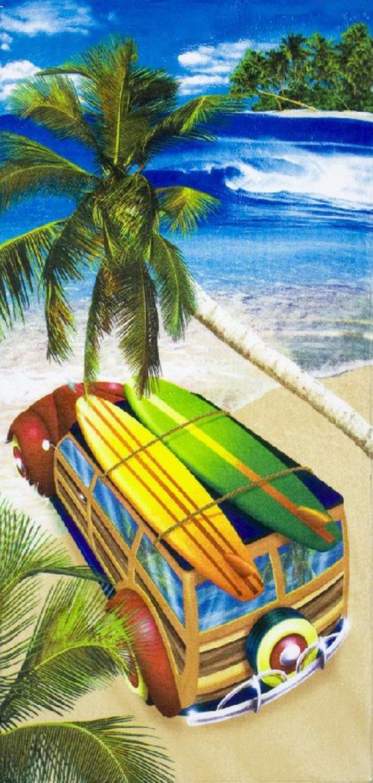 30x60 Surf Trip Fiber Reactive Beach Towel.