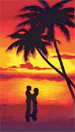 Couple on the beach towels 40x70
