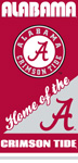 Alabama Crimson Tide Home Beach Towel