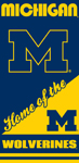 Michigan Wolverines Home Beach Towel