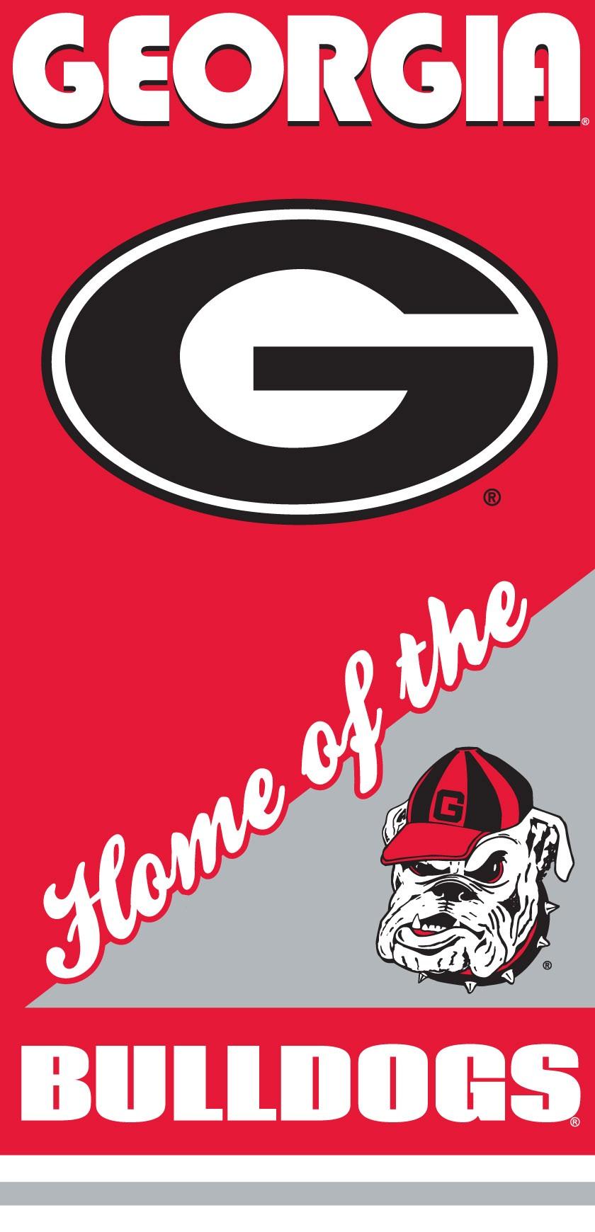 Georgia Bulldogs Home Beach Towel