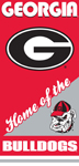 Georgia Bulldogs Home Beach Towel