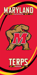 Maryland Terrapins Swoosh Beach Towel