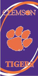 Clemson Tigers Swoosh Beach Towel