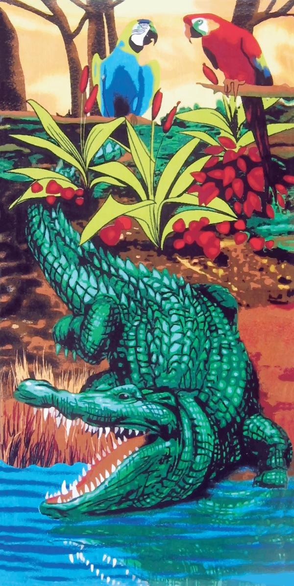 Crocodile/Alligator beach towels