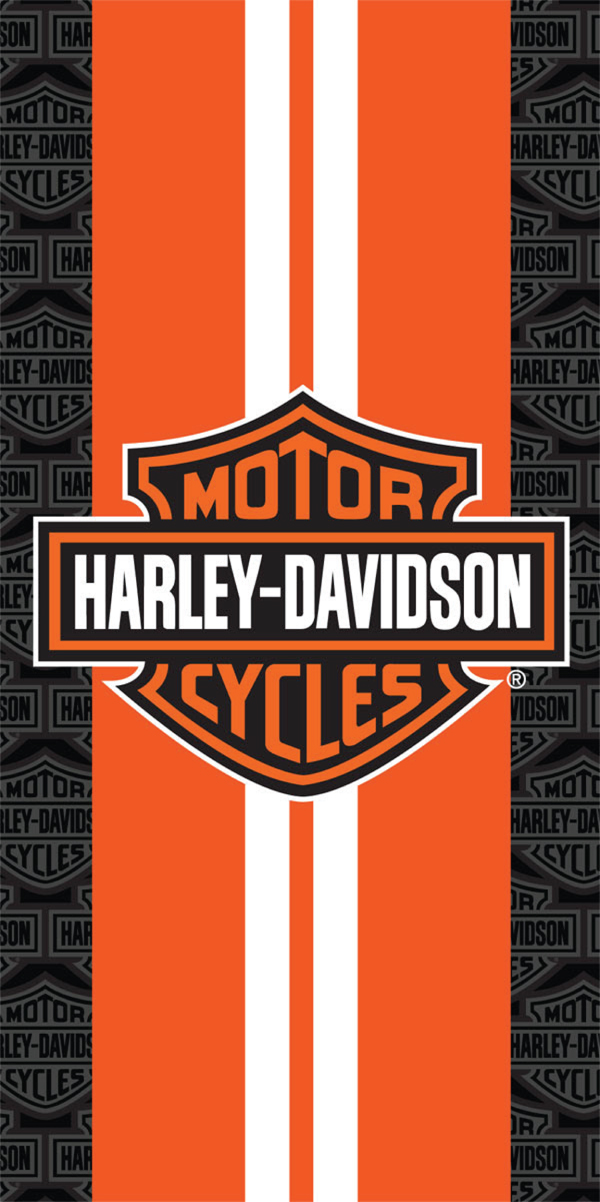 Harley Davidson Racing Stripes Beach Towel