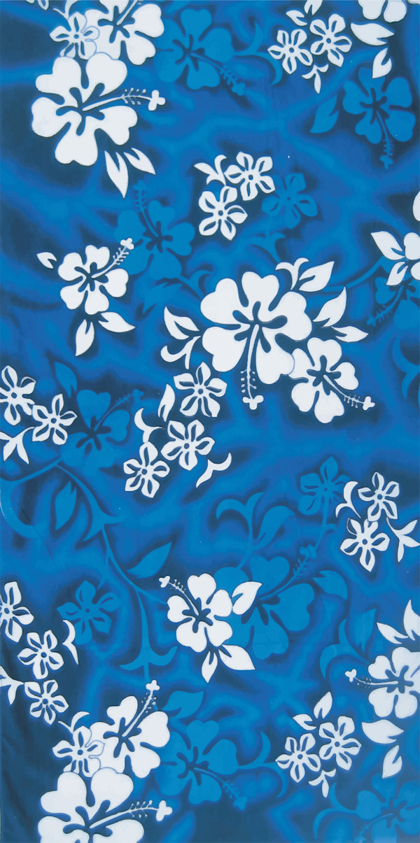 Blue Hibiscus beach towels