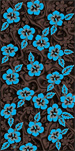 Brown & Turquoise  Hibiscus beach towels