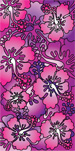 Purple & Pink Hibiscus beach towels