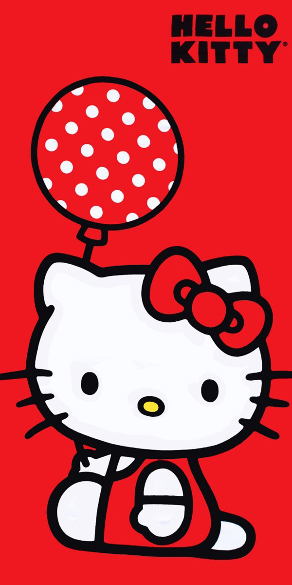 Ballon Kitty Beach Towel
