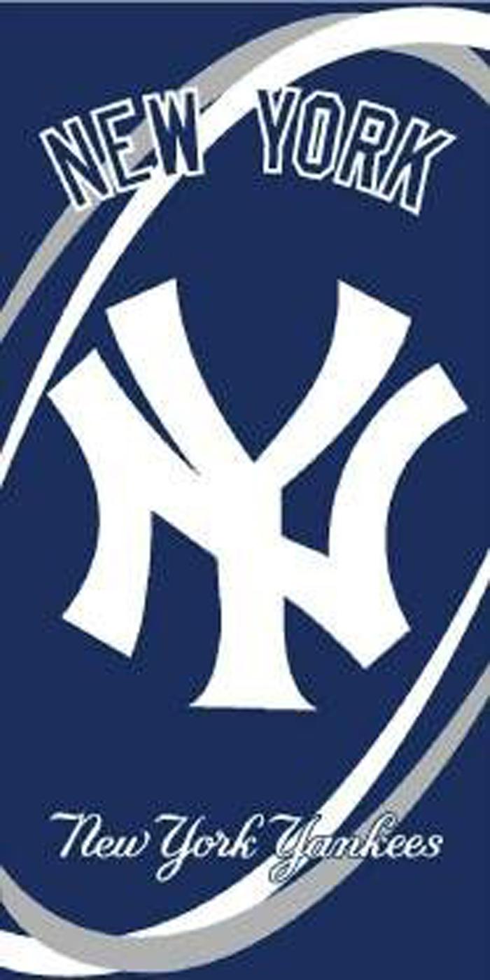 New York Yankees Swoosh Beach Towel