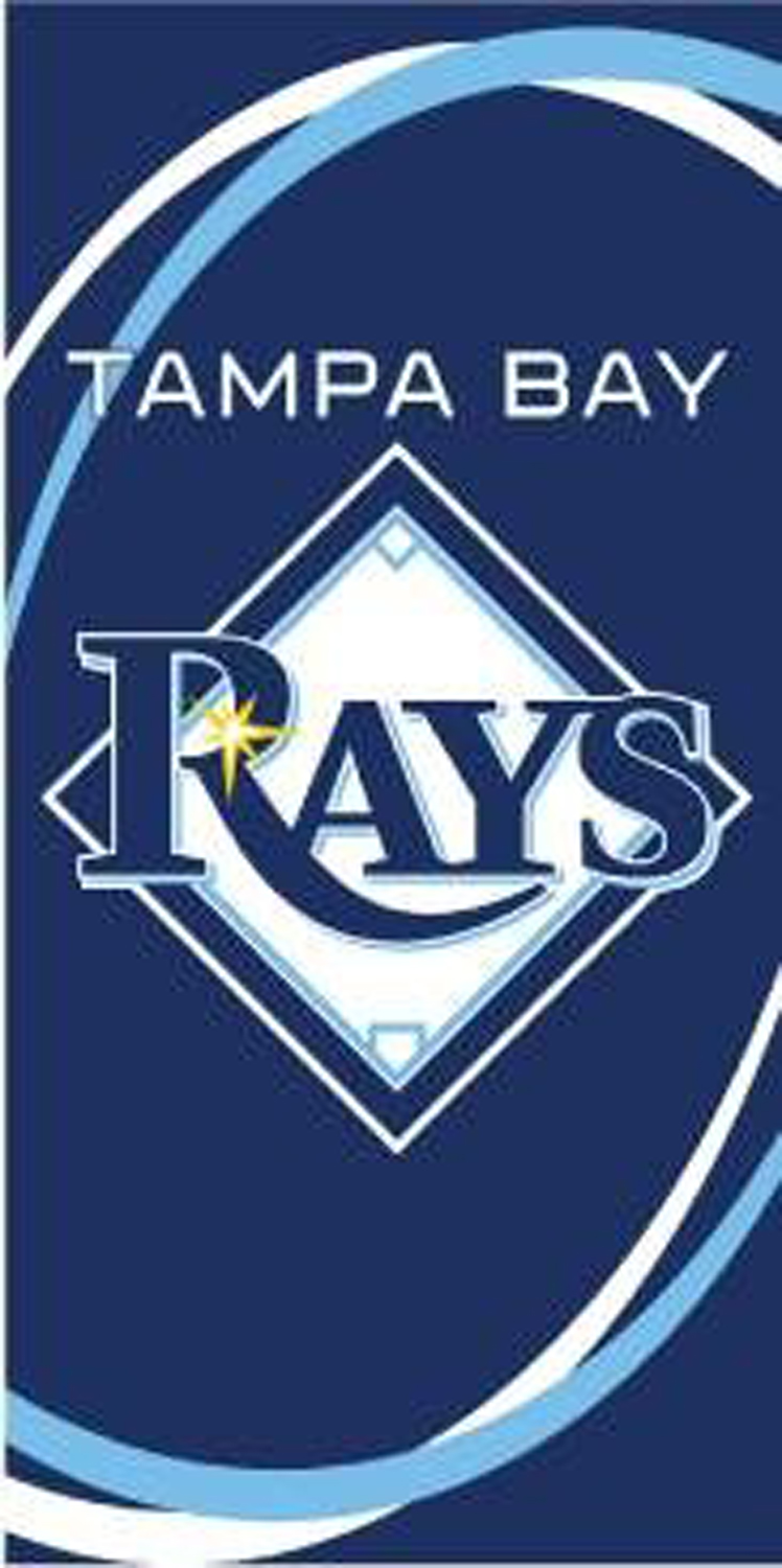Tampa Bay Devil Rays Swoosh Beach Towel
