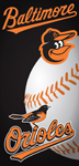 Baltimore Orioles Ball Beach Towel