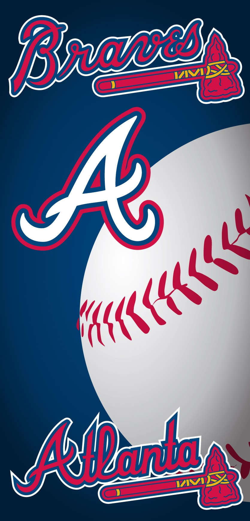 Atlanta Braves Ball Beach Towel
