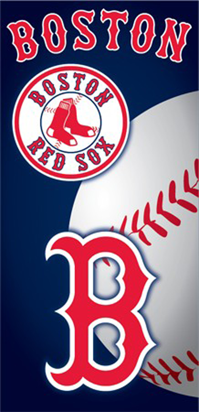 Boston Red Sox Ball Beach Towel