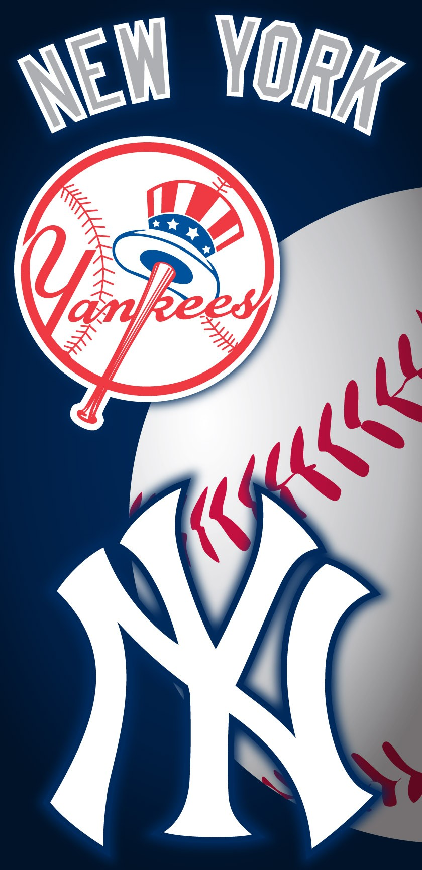 New York Yankees Ball Beach Towel