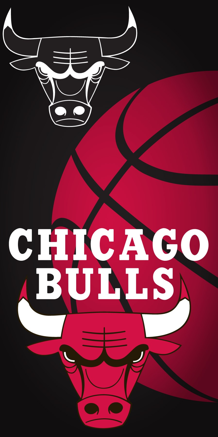 Chicago Bulls Ball Beach Towel