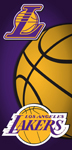 Los Angeles Laker Ball Beach Towel