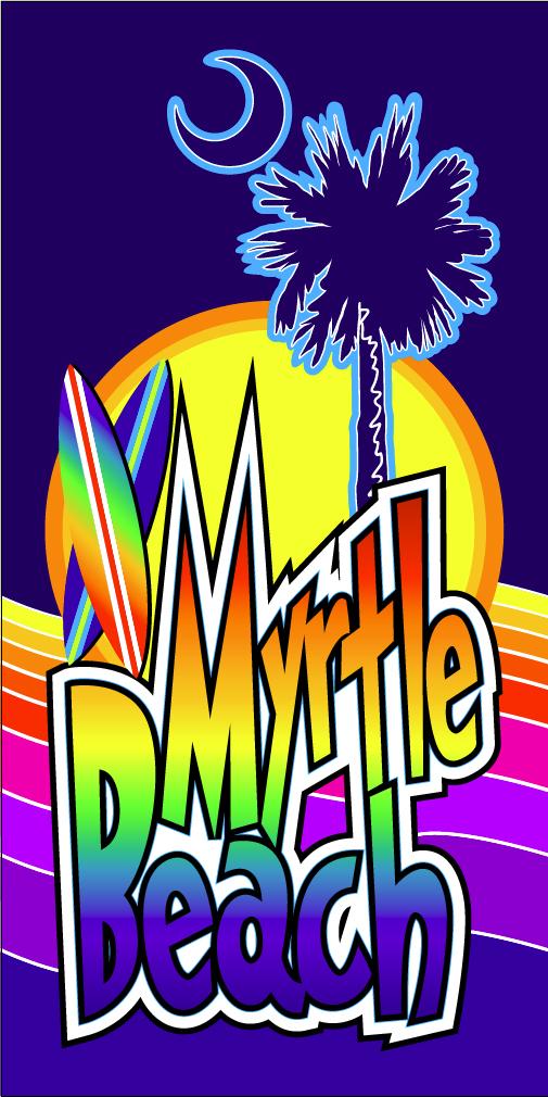 Myrtle Beach Rainbow Beach Towel