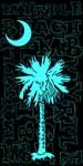 Palm & Moon Turquoise Beach Towel