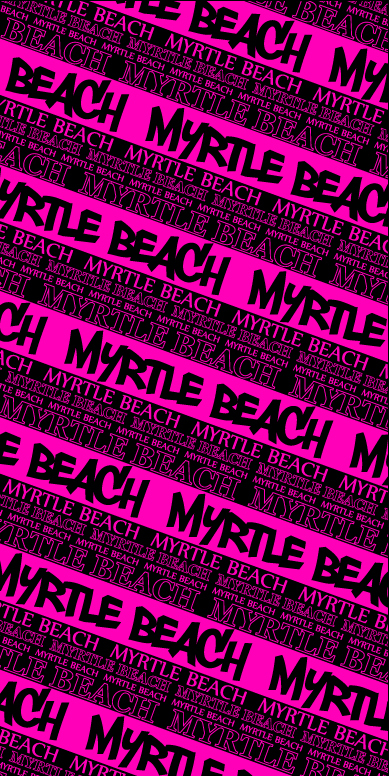 Myrtle Beach Multi Stpire Pink & Black Beach Towel