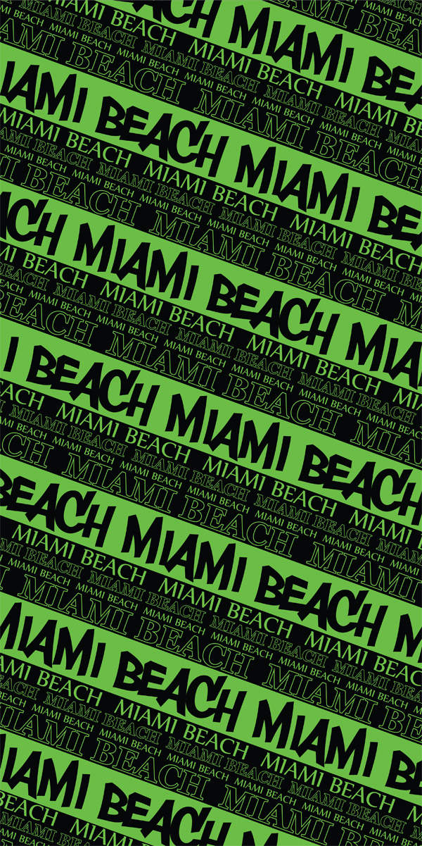 Miami Beach Multi-Stripe Beach Towel
