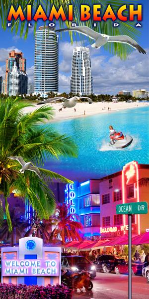 Miami Beach College Beach Towel