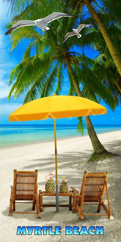 Myrtle Beach Vacation Time Beach Towel