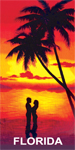 A Couple at Sunset Florida Beach Towel