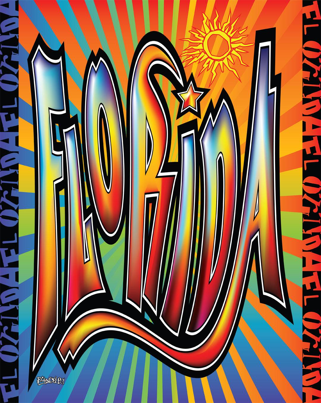 Florida Graffiti Beach Blanket - 54x68