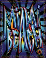 Miami Beach Graffiti Beach Blanket - 54x68