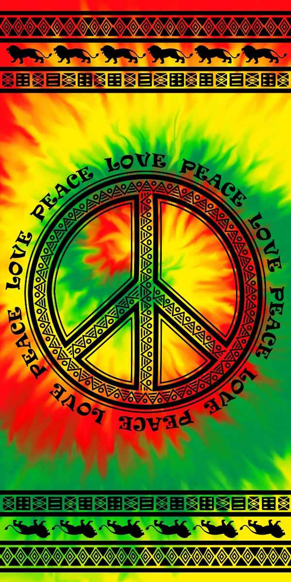 Tribal Peace Beach Towel