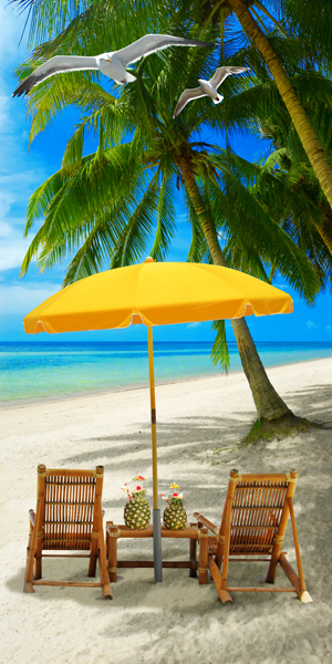 Vacation Time Beach Towel