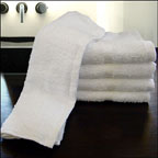 25x52 Bath Towels, 10.5 Lbs per Dz. Pack of 48 per case. White.