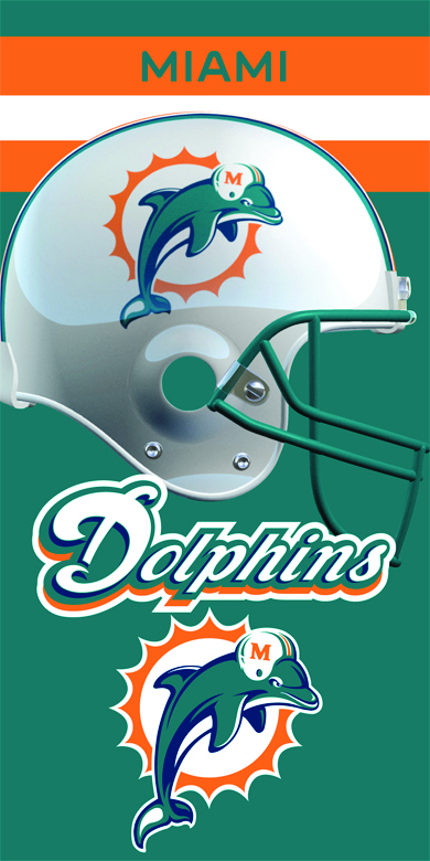 Miami Dolphins beach towels